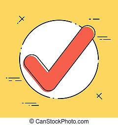 Check symbol - Vector flat minimal icon