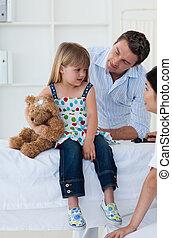 check-up , κατά την διάρκεια , μικρός , πορτραίτο , κορίτσι