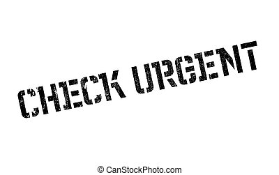Check Urgent rubber stamp