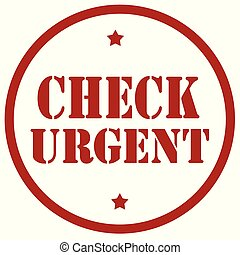 Check Urgent-stamp