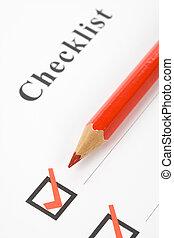 Checkbox and Check Mark close up
