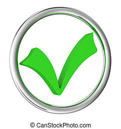 Checkbox - Big green checkbox on a white background
