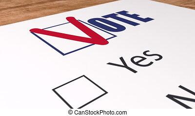 checkbox, bleu, oui, élections, animation, tique, vote, vote