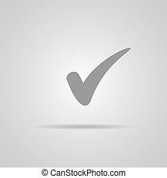 checkbox, button., 印, ベクトル, icon., 印, 点検