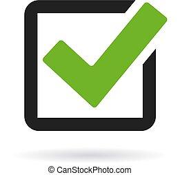 Checkbox icon isolated on white background