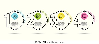 Checkbox, Time management and Idea lamp icons. Blog sign. Survey choice, Work time, Business energy. Vector