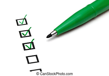 Checkbox with green tick