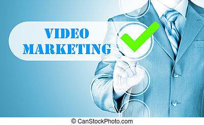 checkbox, zakelijk, marketing, dringend, video, man