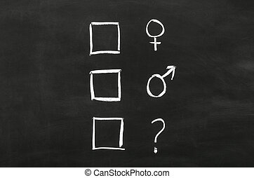 Checkbox'es with gender selection draw on blackboard.