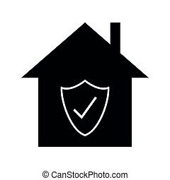 Checked approved house icon