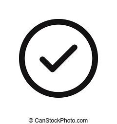 Checked button icon vector