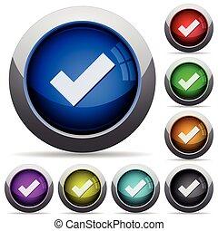 Checked button set