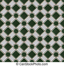 Checked ceramic tiles