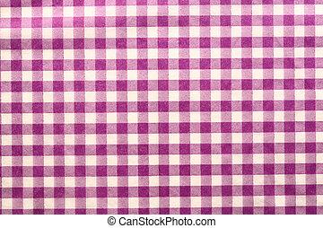 Checked cloth