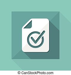 Checked document - Minimal vector icon