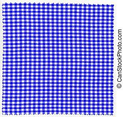 Checked fabric cloth