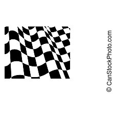checked flags - Black and white checked racing flag. Vector ...