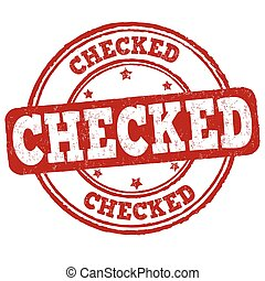 Checked grunge rubber stamp