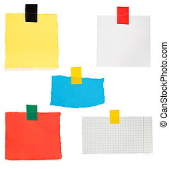 checked note paper and adhesive tape - checked paper and ...