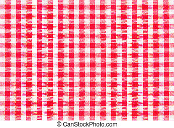 Checked pattern with white and red color