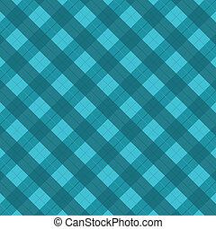 Checked tablecloth - Blue checked tablecloth