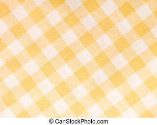 Checked Textile - Yellow checked textile full frame