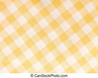 Checked Textile - Yellow checked textile full frame