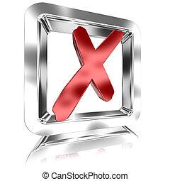 Checked Tickbox v4 - Shiny Tickbox Checked With A Red Check...
