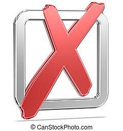 Checked Tickbox v6 - Shiny Tickbox Checked With A Red Check...