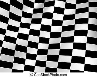 Checker background.