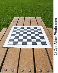 Checker board in a parc