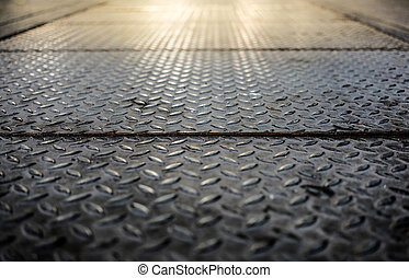 Checker plate steel.