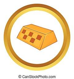 Checker taxi vector icon