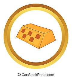 Checker taxi vector icon