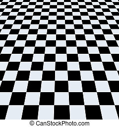 Checkerboard background. Perspective View