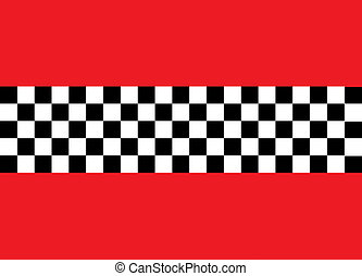Checkerboard Pattern with a Red Border