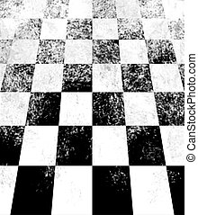 Checkerboard Perspective - Black and white checkerboard...