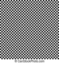 Checkerboard seamless background - Black and white...
