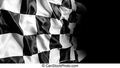 checkered の 旗