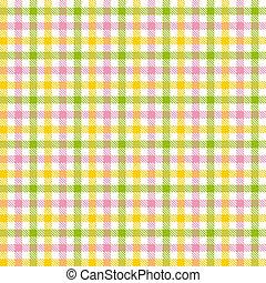checkered, カラフルである, テーブルクロス, パターン, -, endlessly