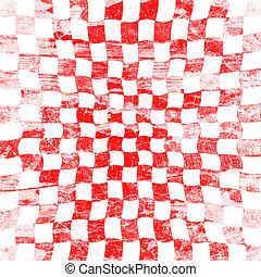 checkered, グランジ, 赤