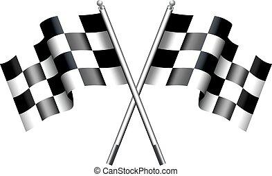 checkered, 旗, ra, モーター, chequered