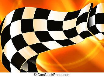 checkered, 横, eps10, 背景
