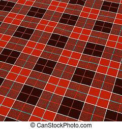 checkered, 生地, 背景, 赤