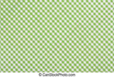 checkered, 緑, 生地