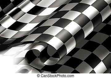 checkered, 背景, 横, 10eps