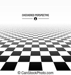 checkered, 見通し, 背景