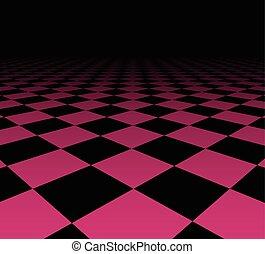 checkered, 見通し, surface.