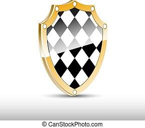 Checkered 3d shield