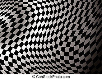 checkered abstract background in black and white showing a...